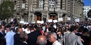Protest ispred Vlade